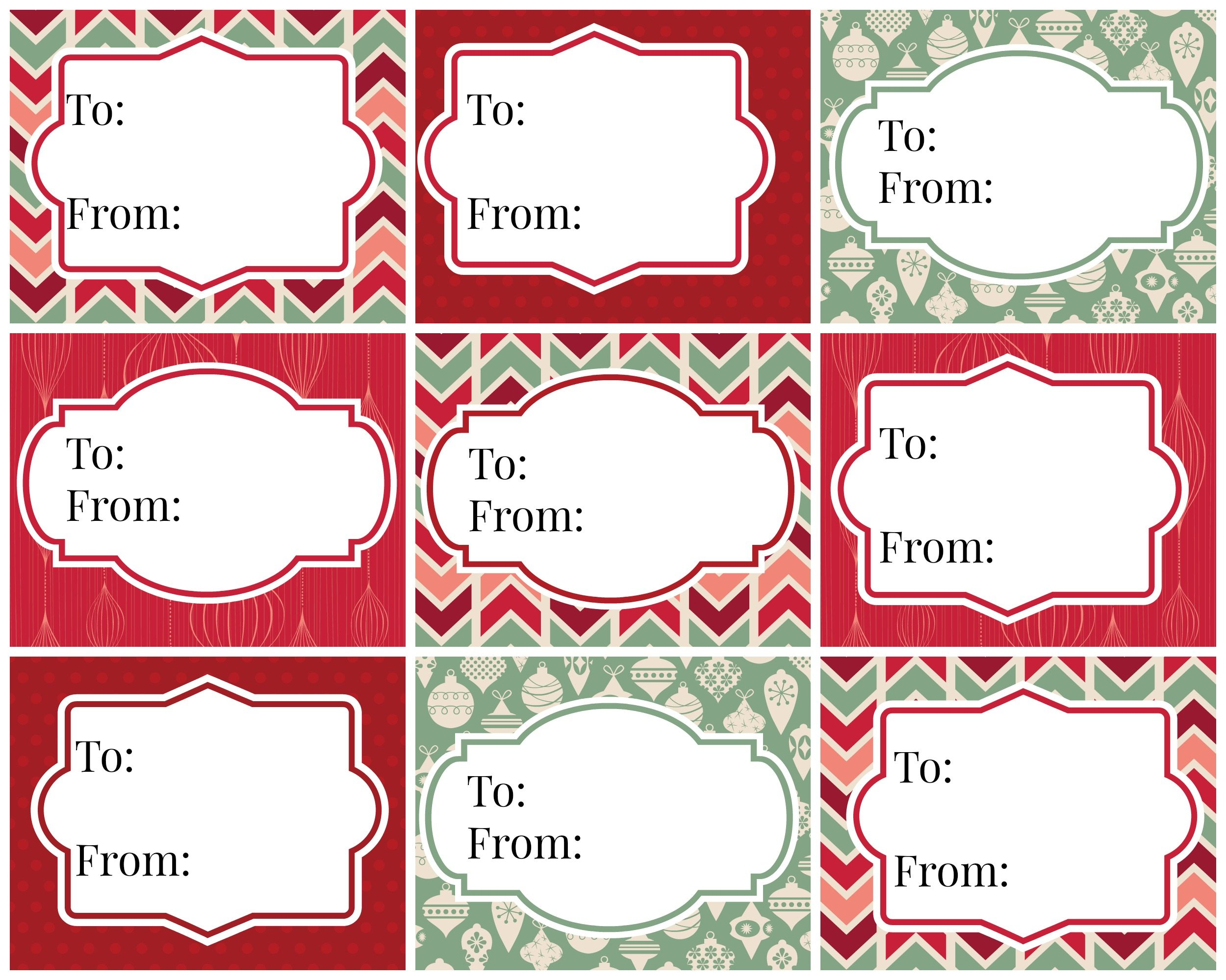 picture about Christmas Tags Printable called Traditional Xmas Reward Tags - Free of charge Printables Refresh Restyle