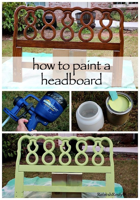 Headboard - Paint it - Finish in an afternoon