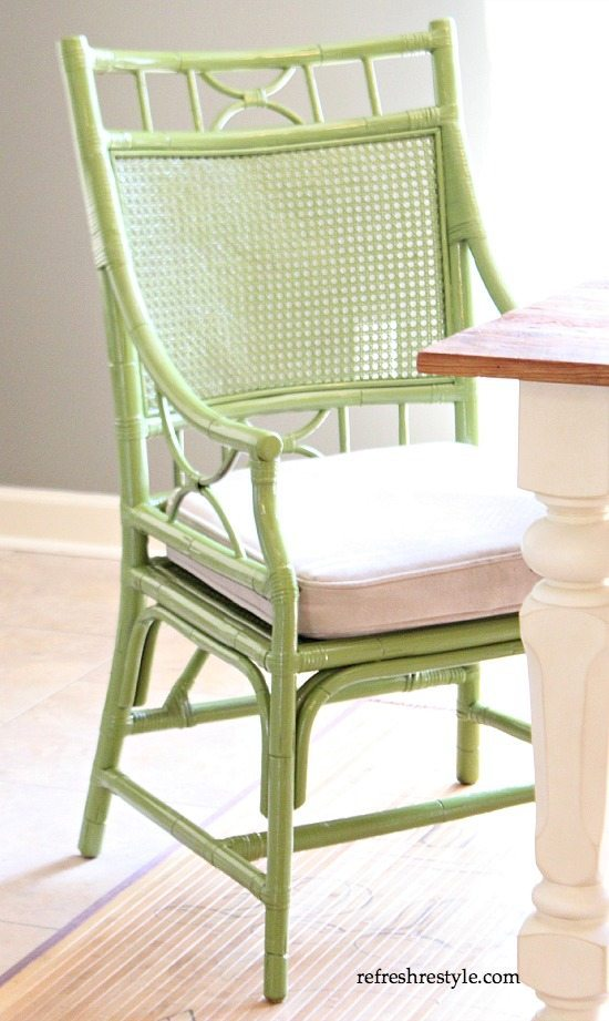 DIY Painted Chair green chair
