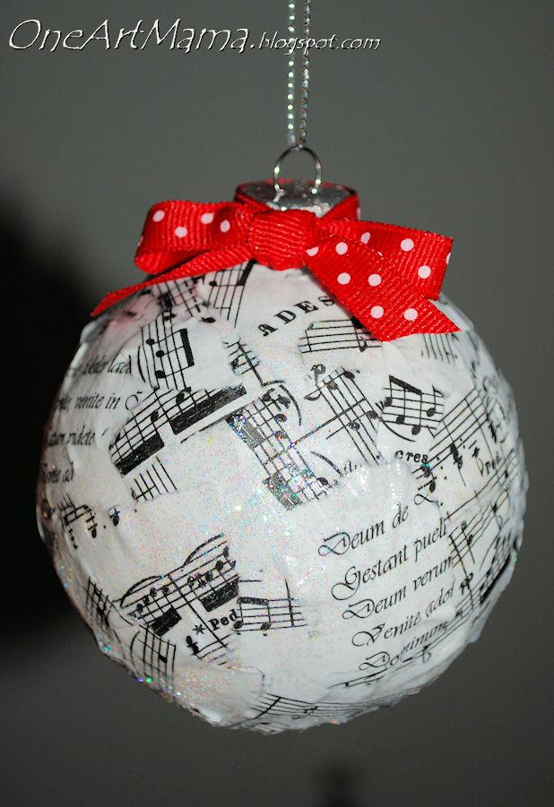 03 - One Artsy Mama - Sheet Music Ornament