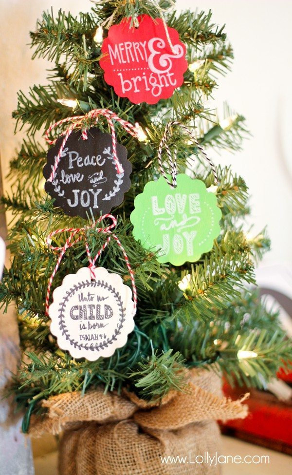 06 - Lolly Jane - Chalkboard Christmas Ornament Tags