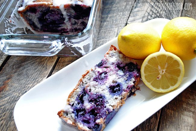 09 - I Should Be Mopping the Floor - Lemon Glazed Blueberry Bread