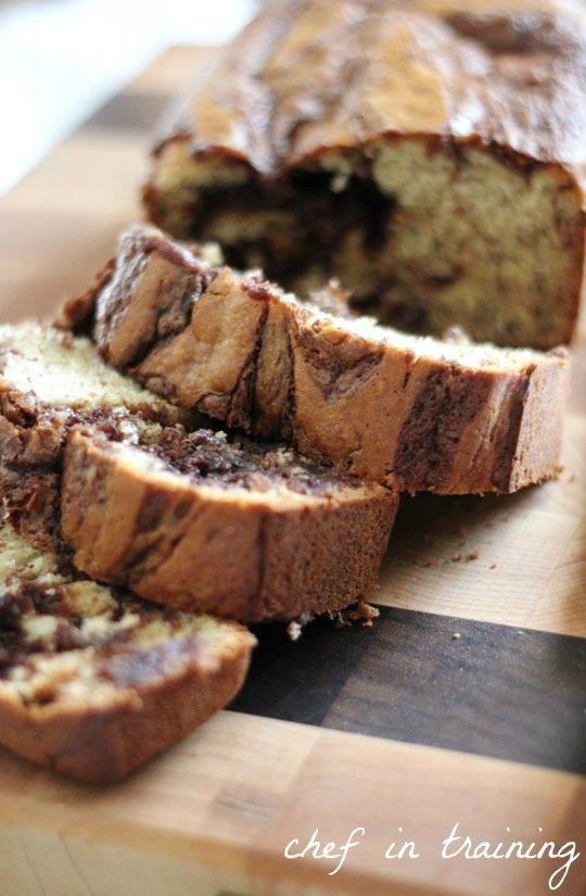 16 - Chef in Training - Nutella Banana Bread