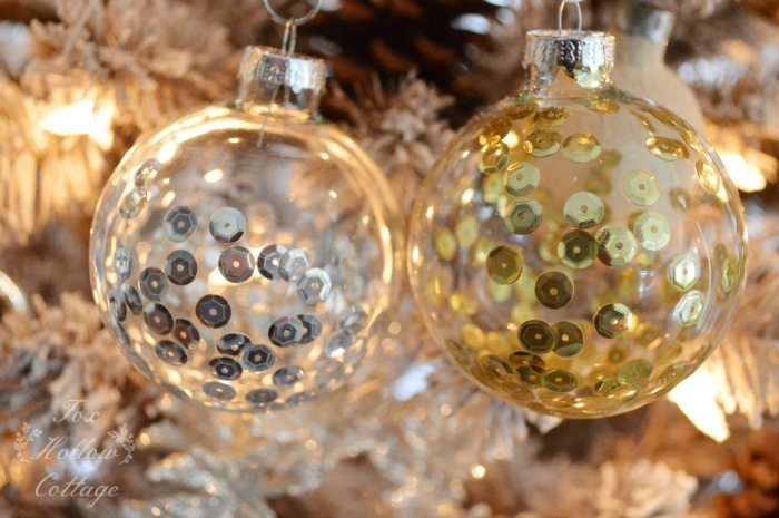 16 - Fox Hollow Cottage - DIY Sequined Ornaments