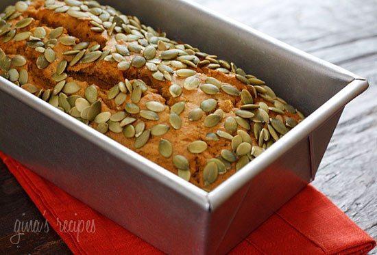 17 - Skinny Taste - Pumpkin Bread with Pepitas