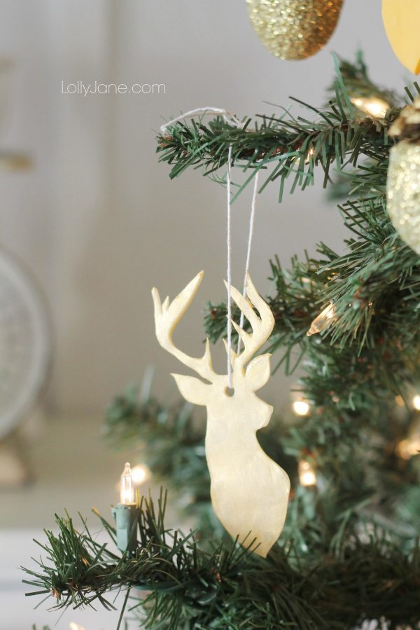 19 - Lolly Jane - Clay Deer Head Ornament