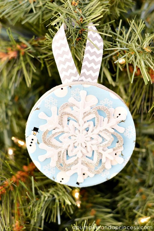21 - A Pumpkin and a Princess - Duck Tape Snowflake Ornament