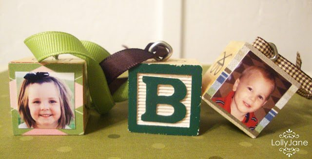 24 - Lolly Jane - Alphabet Photo Block Ornament