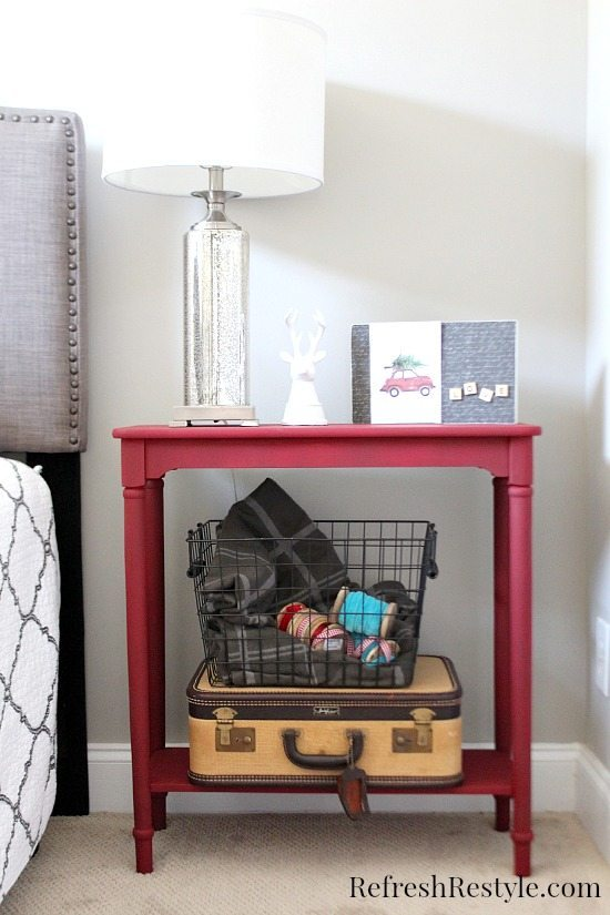DIY Red Side Table