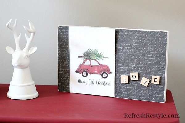 DIY frame with Cute print from Craftberry Bush