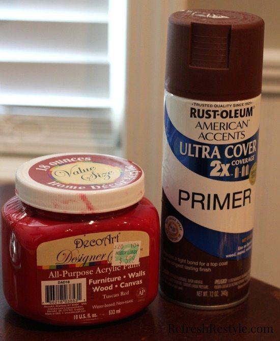 DecorArt Paint and Rust-Oleum Primer