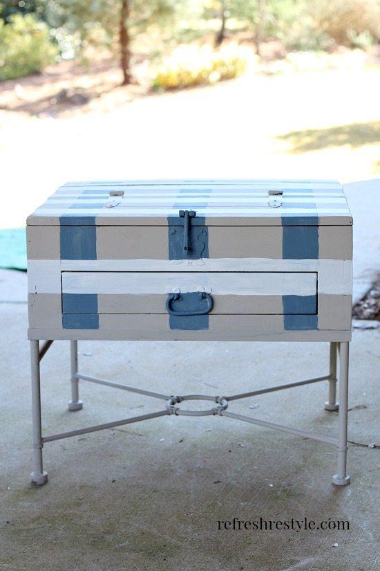 End table makeover 4 #maisonblanchepaint #paintedfurniture #ad