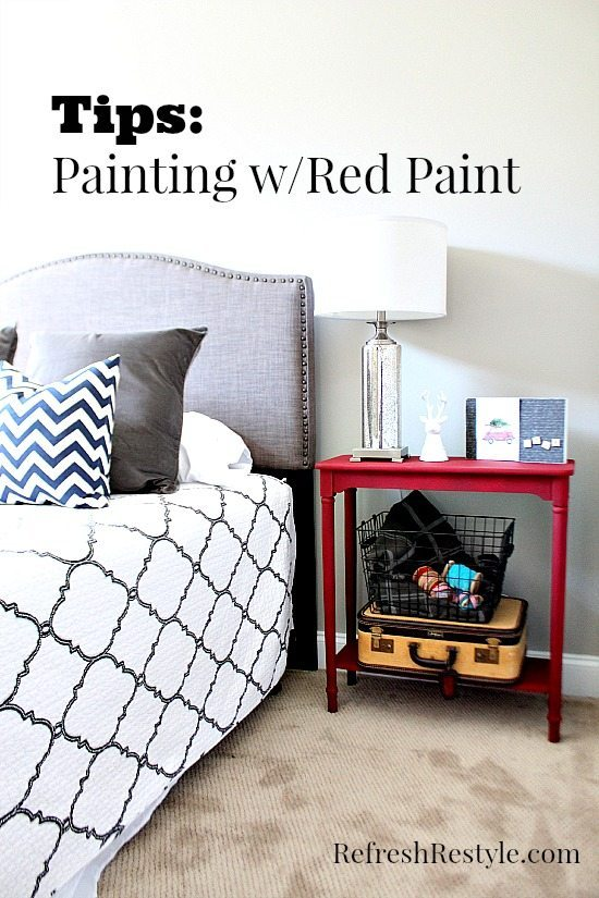 Guest Room Red Table