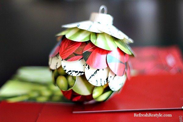 Handmade Paint Chip Ornament