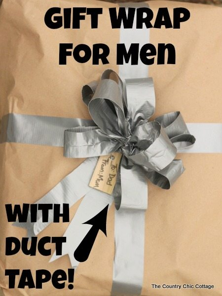 Country Chic Cottage - Gift Wrap for Men with Duct Tape
