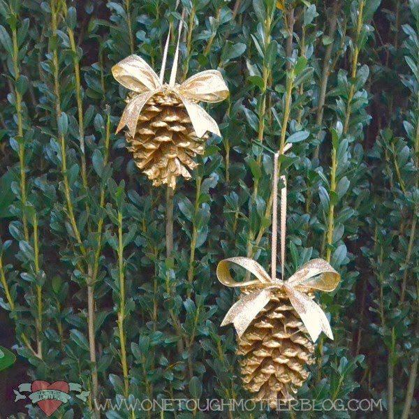 Sweet Tea Saving Grace - Simple DIY Gold Pinecone