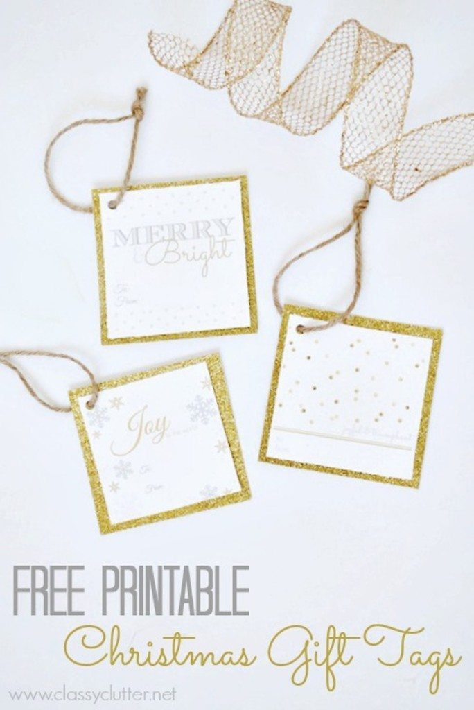 classy clutter - free Christmas gift tags