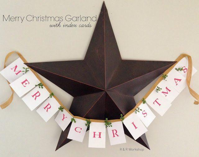 R  & R Workshop -DIY Merry Christmas Garland