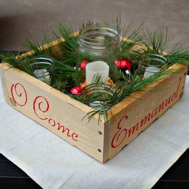 One Artsy Mama - Handmade Advent Wreath Box