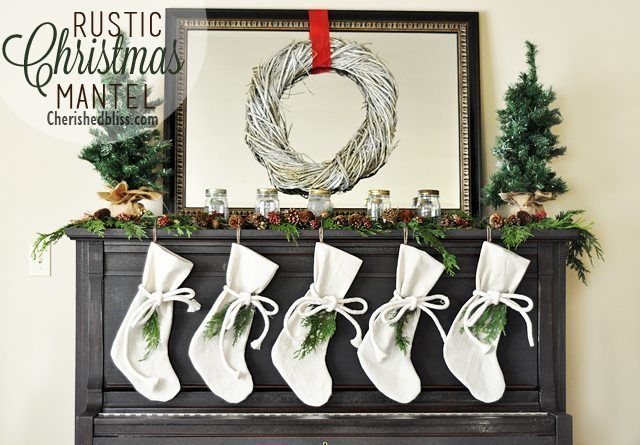 Cherished Bliss - Rustic Christmas Mantle