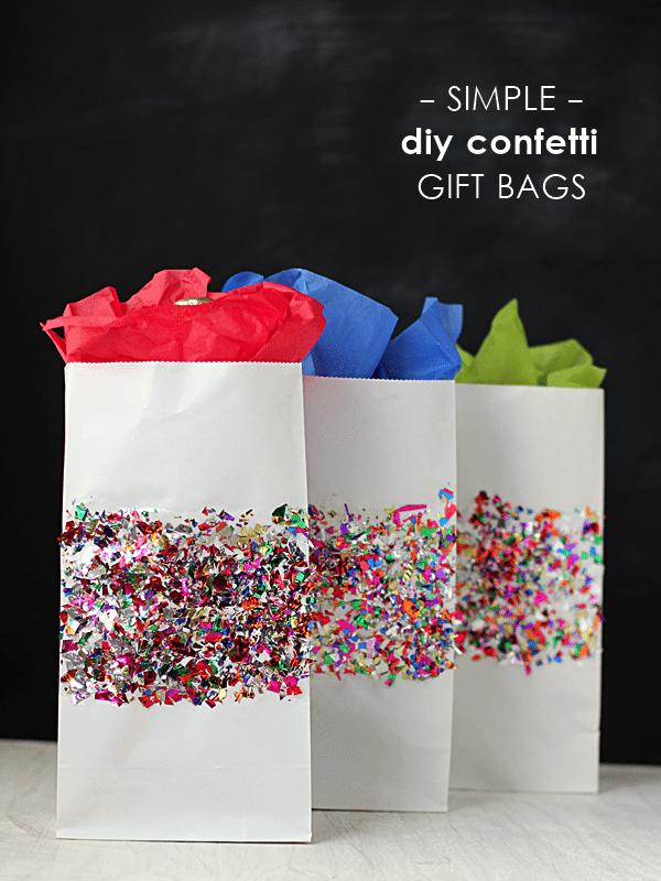 Mod Podge Rocks - Confetti Gift Bags