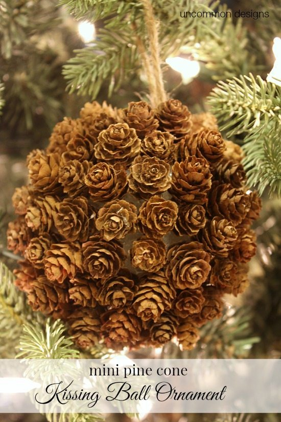 Uncommon Designs - Mini Pine Cone Kissing Ball