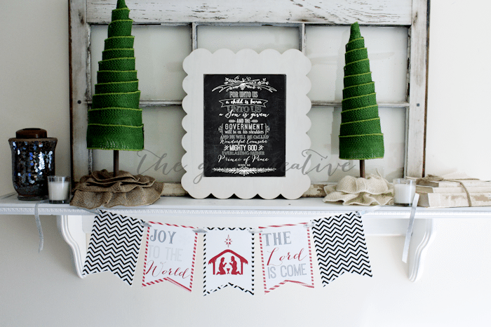 The Girl Creative - Joy to the World Printable Banner