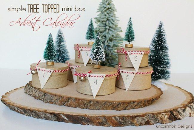 Uncommon Designs - Simple Tree Toped Mini Advent Box Calendar
