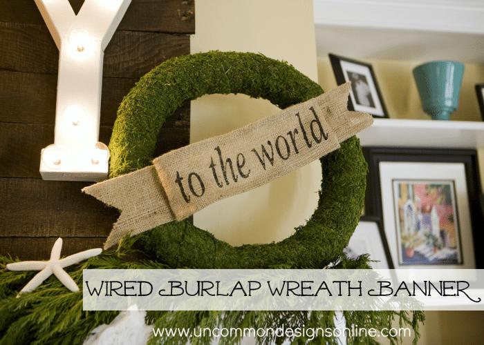 Uncommon Designs - Wired Burlap Wreath