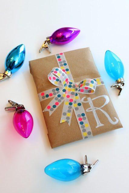 Elizabeth Doo Dah - Washi Tape Gift Wrap