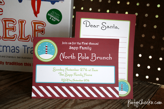 Poofy Cheeks - North Pole Elf Christmas Brunch Printables