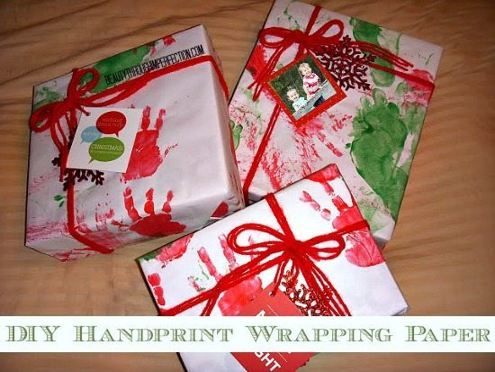 Beauty Through Imperfections - Handprint Christmas Wrapping Paper
