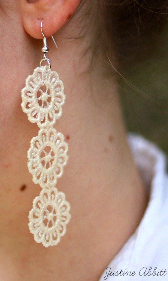 Mod Podge Rocks - Lace Earrings