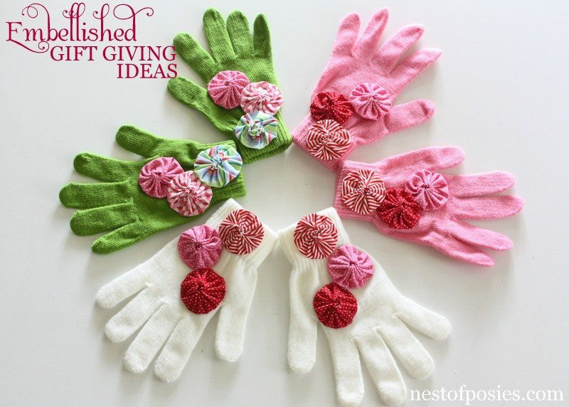 Nest of Posies - Embellished Gloves