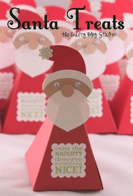 The Crafty Blog Stalker - Santa Treat Boxes