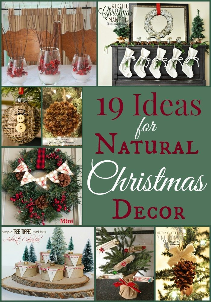 19 Ideas for Natural Christmas Decor