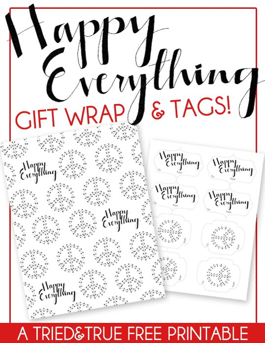 Tried and True - Happy Everything Gift Tags