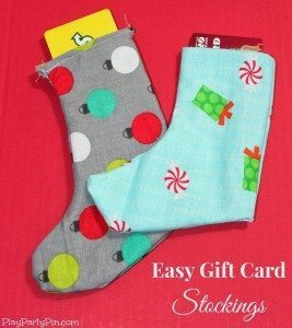 Play Party Pin - Easy Gift Card Stockings
