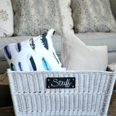 Get Organized with Storage Baskets
