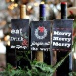 Christmas Tags for Wine Bottles from refreshrestyle.com