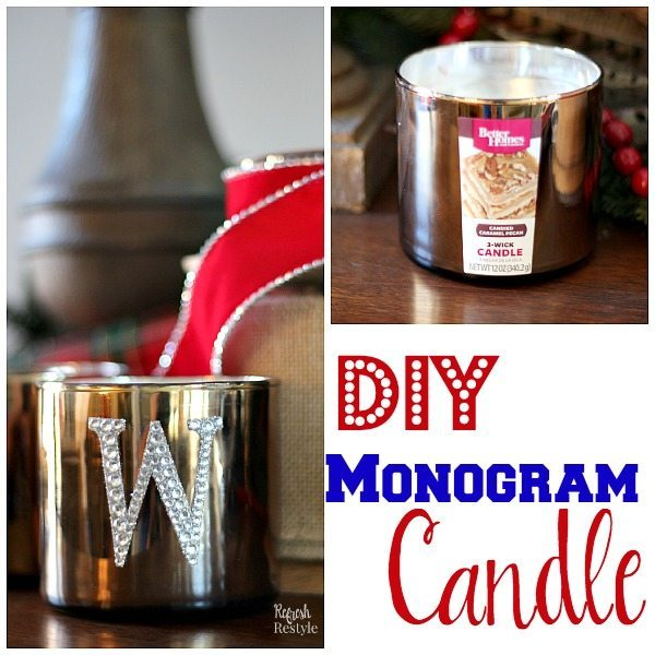 DIY Monogram Candle Gift Idea