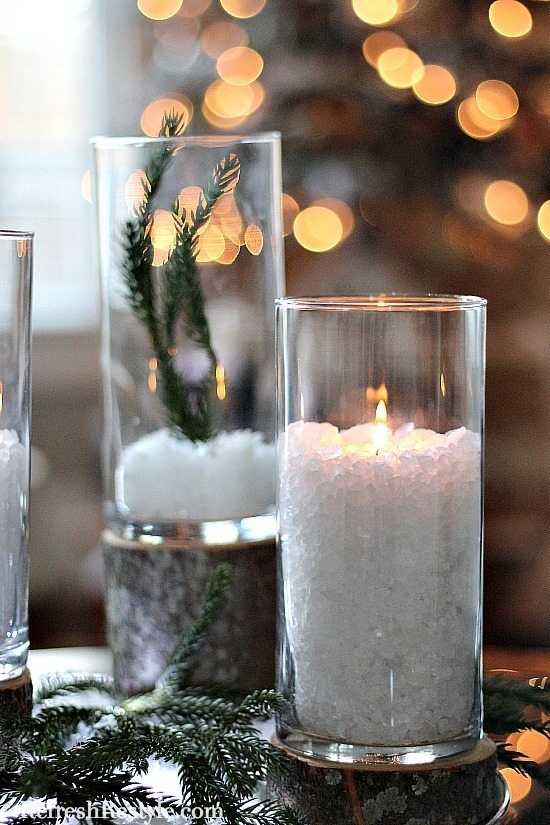 Dollar Tree Candle holders 3 sizes from refreshrestyle.com