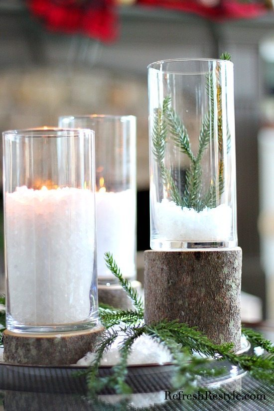 Dollar tree stump candleholders from refreshrestyle.com