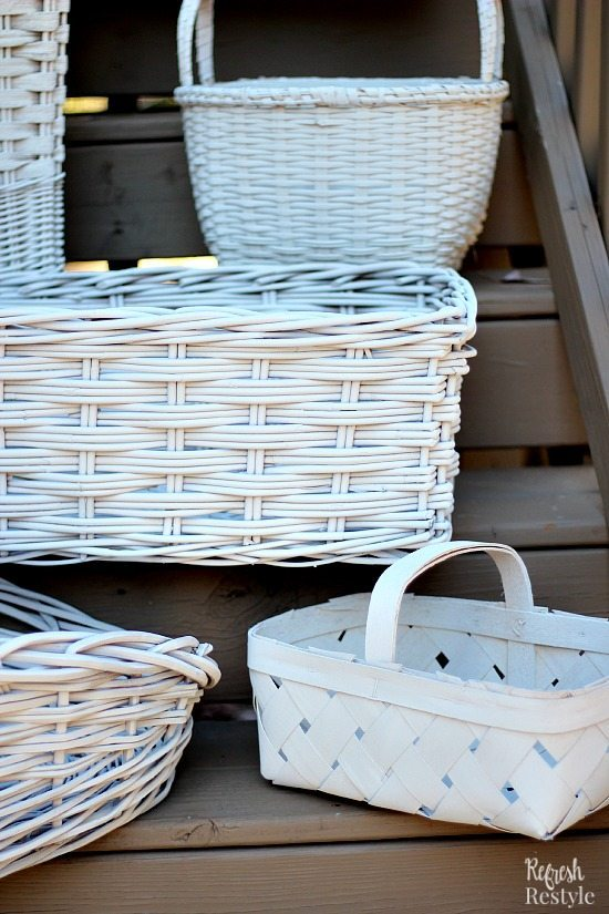 Painted Baskets #refreshrestyle #homeright #spraypaint