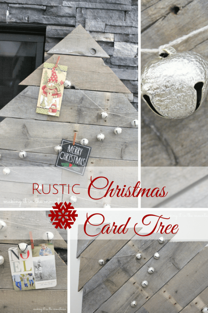 Rustic Pallet Christmas Card Holder