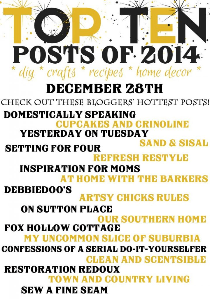 Top Ten Posts of 2014 Blog Hop