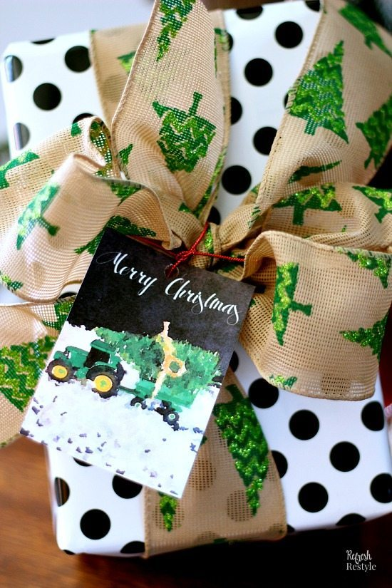 Trees on Tractors Gift Tag