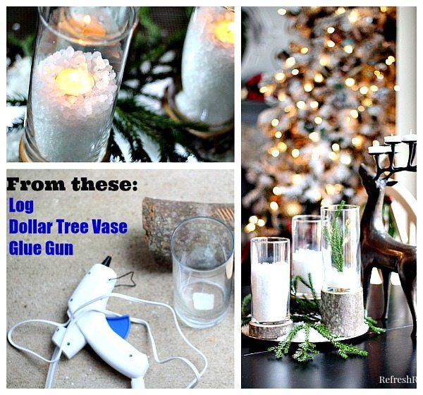 Diy Glass And Wood Candleholders