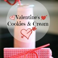 Make a special Valentine's treat with this Cookies and Cream Shake Recipe