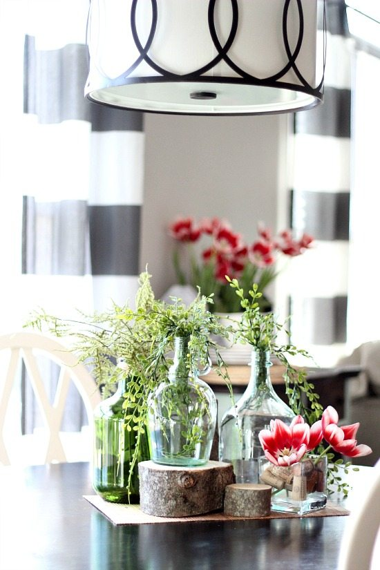 Free rustic chic table centerpiece idea - Idea for free centerpiece